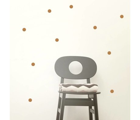 Ferm Living Wall Stickers Mini Dots copper vinyl 54 pieces of A4