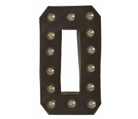 Housedoctor Wall Lamp 'Letter O' black metal 28x12 H50cm