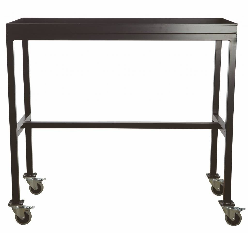 housedoctor trolley 39 rolling table 39 zwart metaal. Black Bedroom Furniture Sets. Home Design Ideas