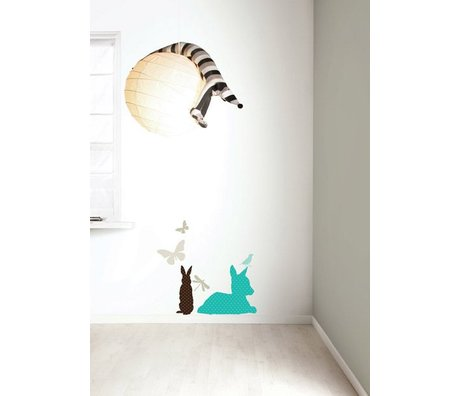 "KEK Amsterdam Wall Sticker set ""Deer BOYS 'blue / brown vinyl"