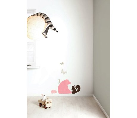 "KEK Amsterdam Wall Sticker set ""Bear GIRLS 'pink / brown vinyl"