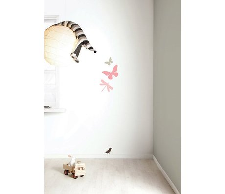 KEK Amsterdam Wall Sticker set 'Miniset 1 GIRLS' pink / brown vinyl