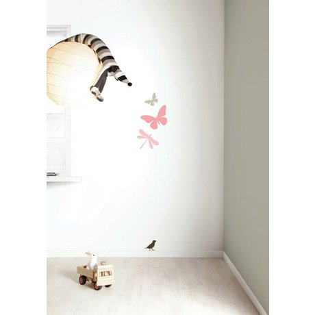 KEK Amsterdam Wall Sticker Set 'Miniset 1 GIRLS' pink / braun Vinyl