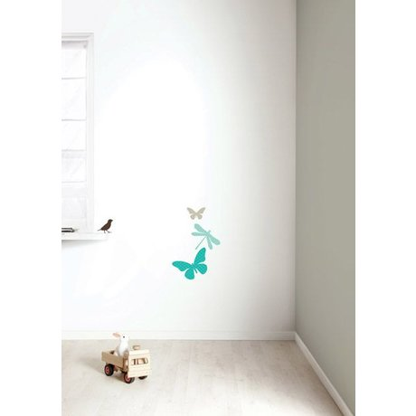 KEK Amsterdam Wall Sticker set 'Miniset 1 BOYS' blue / brown vinyl