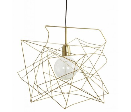 Housedoctor Lampshade 'Asymmetric' shiny gold metal Ø45cm