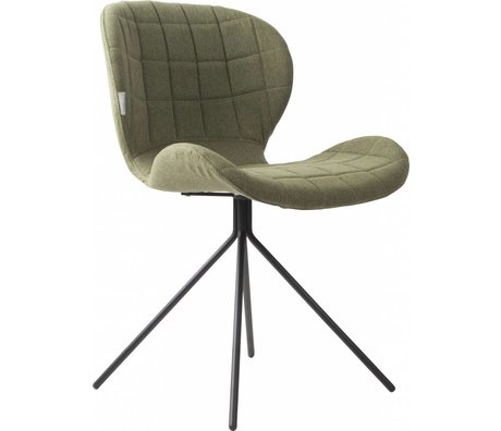 Zuiver Dining chair OMG green 50x56x80cm