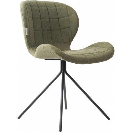Zuiver Esszimmerstuhl OMG grün 50x56x80cm