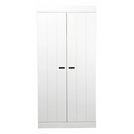 LEF collections Wardrobe 'Connect' 2 door strips door white pine 195X94X53cm