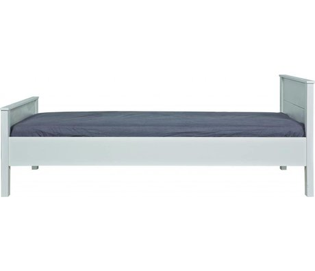 LEF collections Bed 'Jade' wit grenen 80x210x97cm