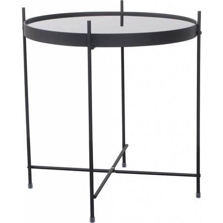 Zuiver Occasional table 'Cupid' black metal glass Ø43x45cm
