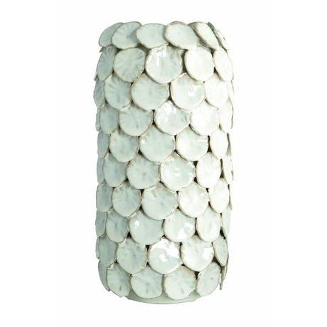 Housedoctor Vase 'Dot' white Ø15x30cm