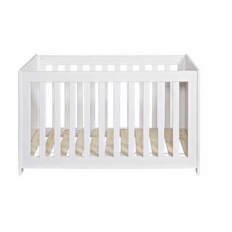 LEF collections Cot 'New Life' brushed white pine 66x125x79cm
