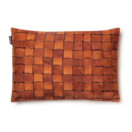 "Snurk Beddengoed Cushion cover ""Heather leather 'brown 35x50cm"
