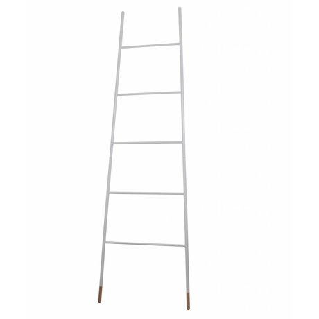 Zuiver Ladder white with natural rubber foot 37/54x2x175cm