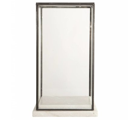 Housedoctor Stolp / Showcase glass marble, marble 19x19x33cm