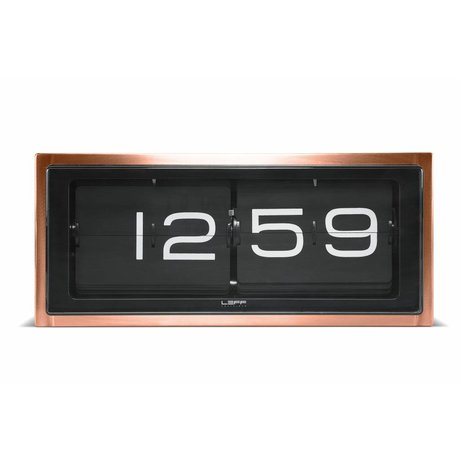 LEFF amsterdam Brick wall clock and table clock copper black 36x12, 8x15, 7cm