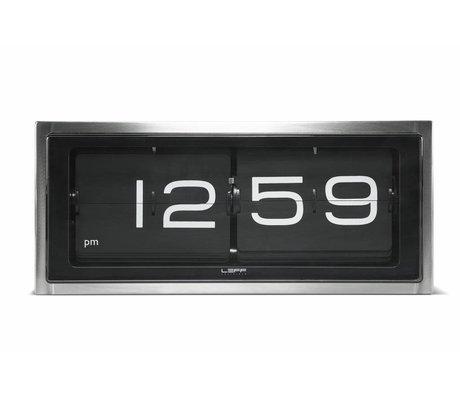 LEFF amsterdam Mur de briques horloge et horloge de table en aluminium 36x12 noir, 8x15, 7cm