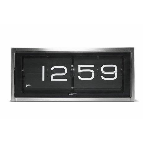 LEFF amsterdam Brick Wanduhr und Tischuhr Aluminium schwarz 36x12, 8x15, 7cm