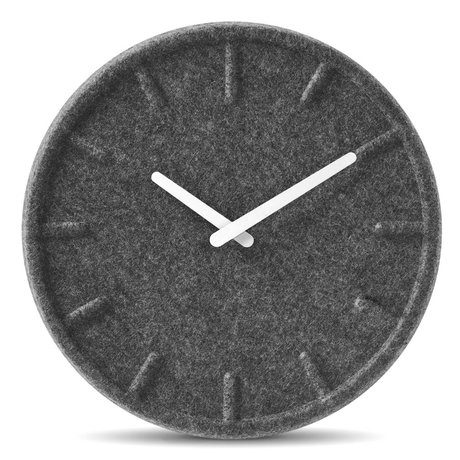 LEFF amsterdam Felt gray clock with white hands ø35cm