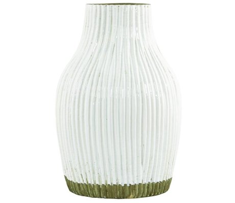 Housedoctor Vase Vertical white with natural dip ø15xh23cm