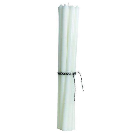Housedoctor Bougie (ensemble de 12) des bougies blanches crayon-mince H30cm