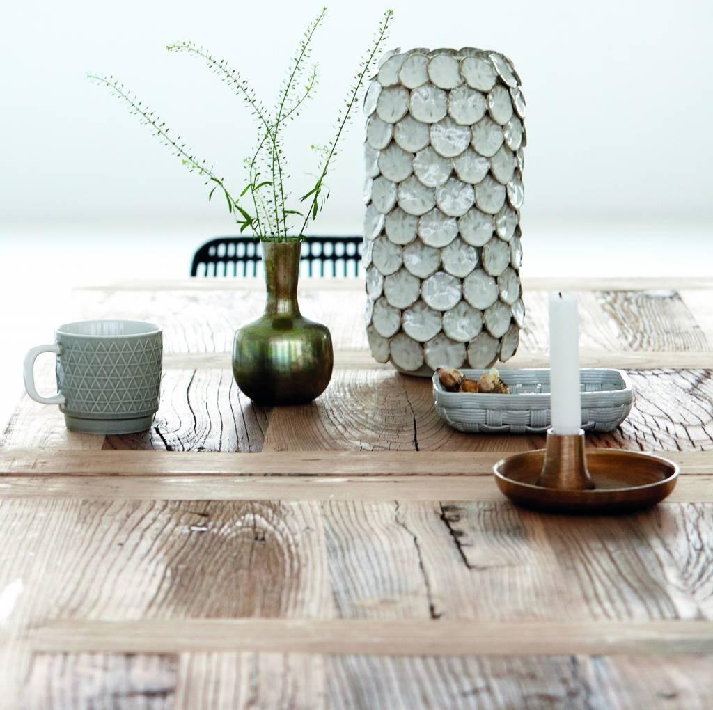 housedoctor vase 39 dot 39 white 15x30cm wonen met lef. Black Bedroom Furniture Sets. Home Design Ideas