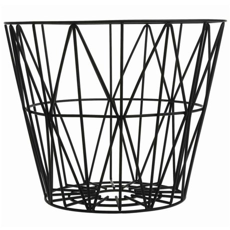 Ferm Living Basket black iron 3 sizes 40x35cm, 50x40cm, 60x45cm Wirebasket