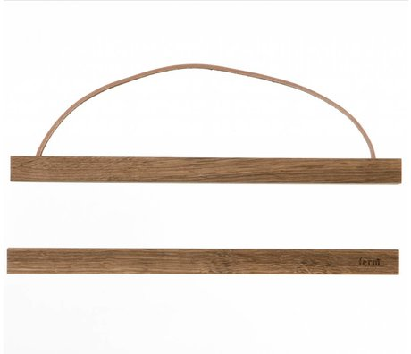 Ferm Living Ophangsysteem voor posters Smoked oak hout 31x2cm