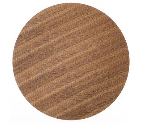 Ferm Living Sheet metal basket Ø 60cm brown oak veneer