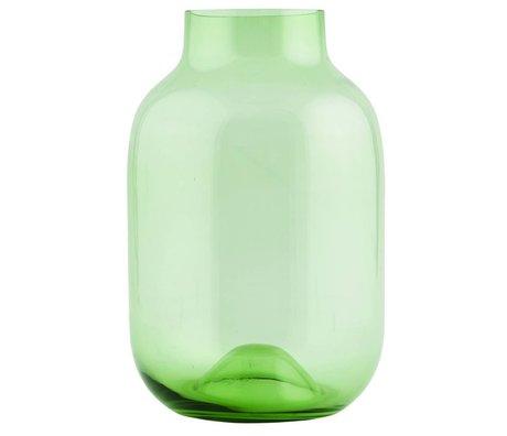Housedoctor Vase geformt Recycling-grünen Glas ø21xh32,5cm