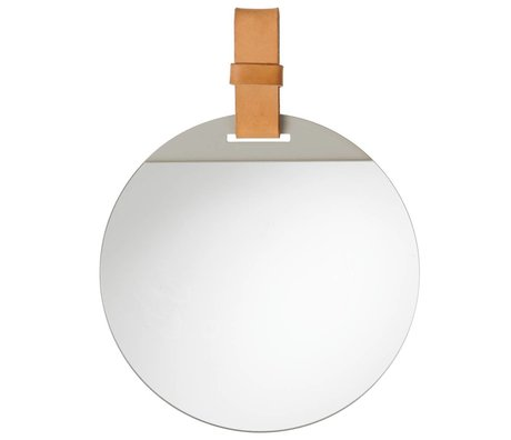 Ferm Living Spiegel Enter met leren band 26x36cm