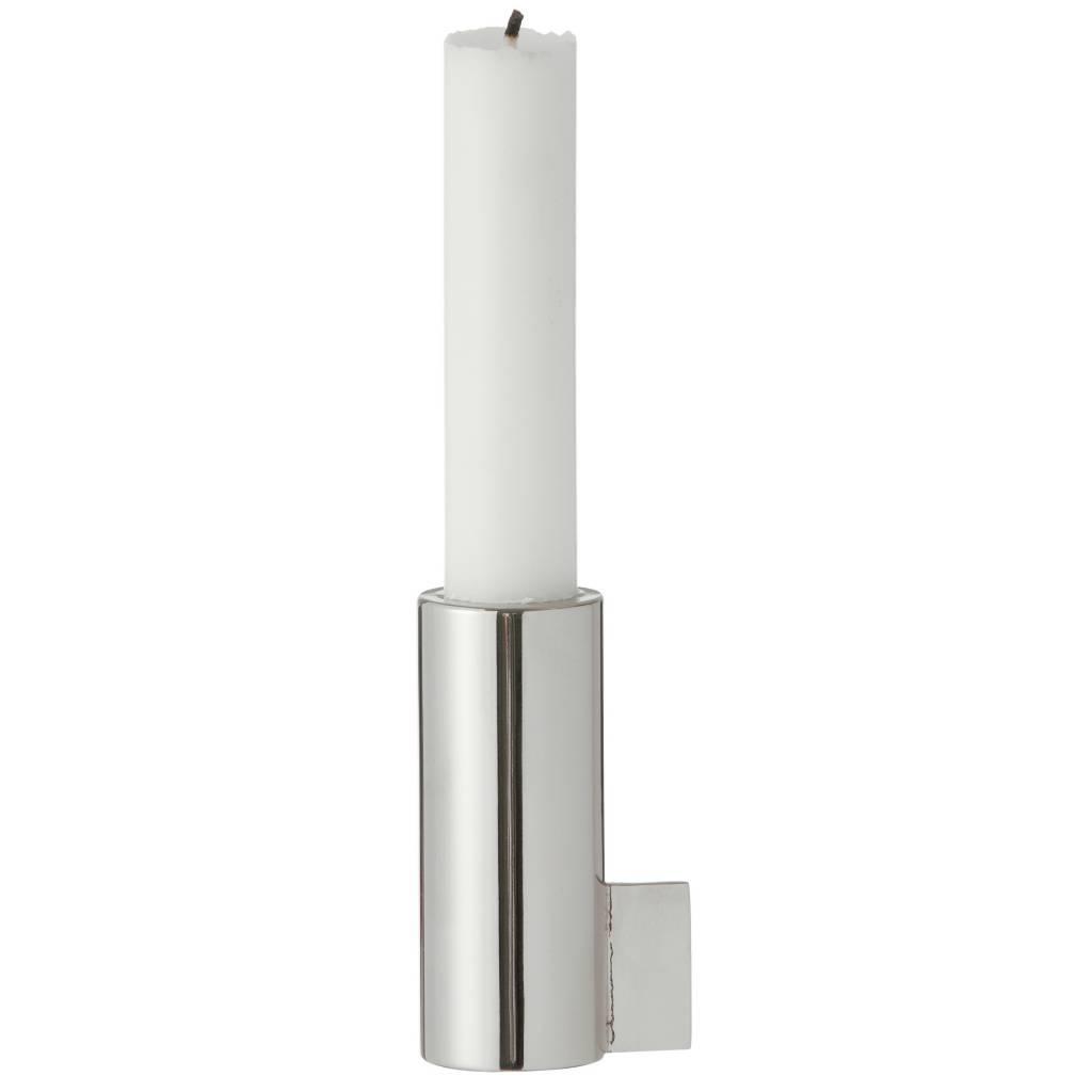 Ferm Living Kandelaar half staal zilver 3,5x8cm