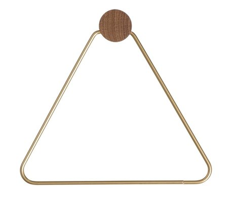 Ferm Living Toilet roll holder brass gold 17x5x15cm