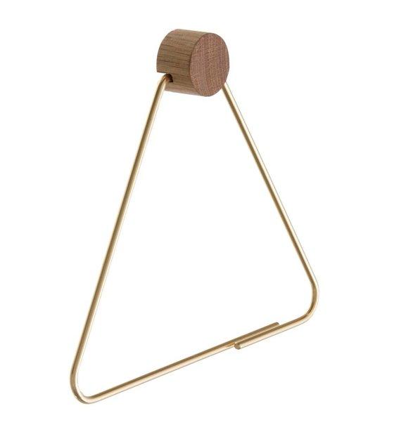 Ferm Living WC rol houder Brass goudkleurig 17x5x15cm  wonenmetlefnl # Jysk Wc Rolhouder_081306