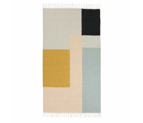 Ferm Living Kilim Rug Squares 2 sizes 80x140cm and 140x200cm