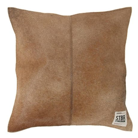 Storebror Cushion 43x43cm brown leather coat