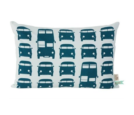 Ferm Living Sierkussen Rush Hour blauw 60x40cm