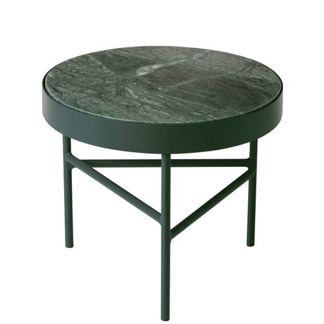 Ferm Living Marble coffee table small green Ø40x35cm