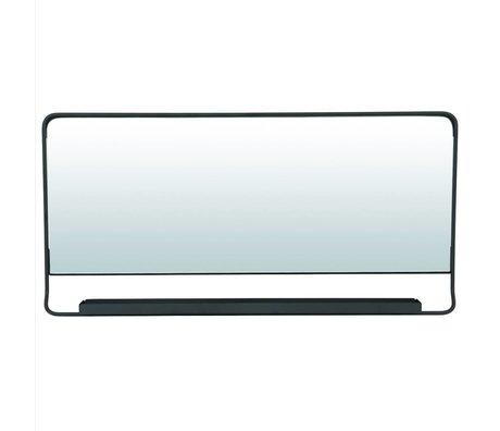 Housedoctor Spiegel Chiq met plank zwart metaal 80x40cm