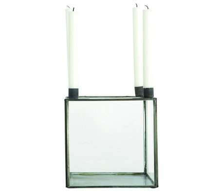 Housedoctor Candlestick cube SQUARE metal-20x20x22cm
