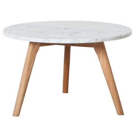 Zuiver Beistelltisch Whitestone großen weißen Marmor grau Ø50x32cm
