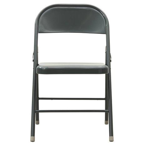 Housedoctor Fold It granite gray metal folding chair 46x46x79cm