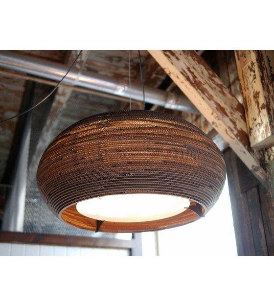 graypants hanglamp ohio bruin karton 24 Ã 61x24cm wonenmetlef