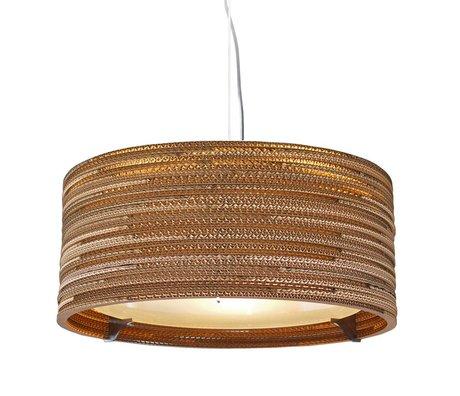 Graypants Hanging lamp Drum 18 brown cardboard Ø45x21cm