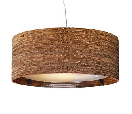 Graypants Hanging lamp Drum 36 brown cardboard Ø92x35cm