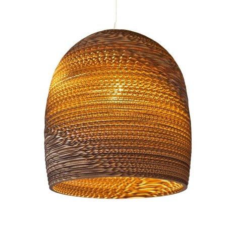 Graypants De Bell pendant light 16 brun carton Ø38x40cm