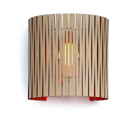 Graypants Wall lamp Rita orange cardboard Ø30x32cm