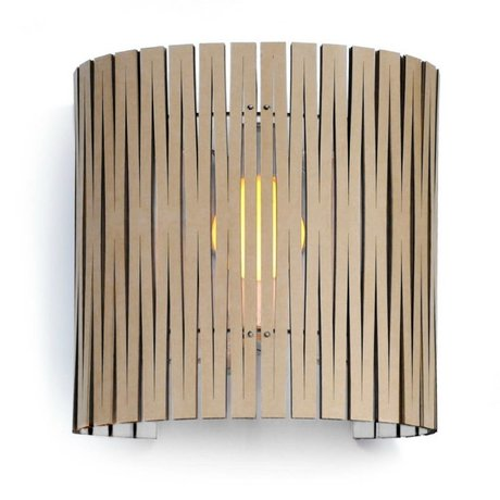 Graypants Wall lamp Rita white cardboard Ø30x32cm
