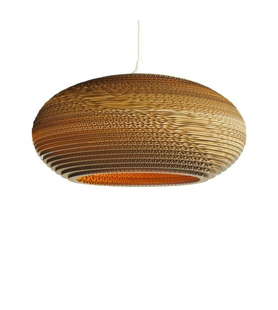 graypants hanglamp disc 16 bruin karton à 43x19cm wonenmetlef
