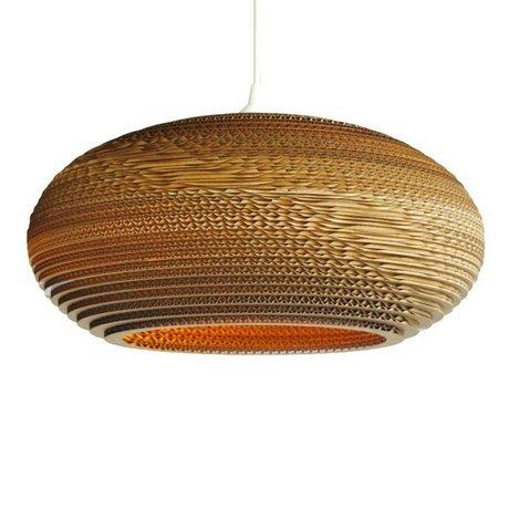 Graypants Disc 20 pendant light brown cardboard Ø50x23cm